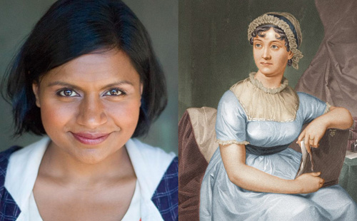 The same, right? (Mindy Kaling photo by NoHoDanon via Flickr, license: https://creativecommons.org/licenses/by-nc-nd/2.0/). Jane Austen photo courtesy University of Texas via Wikimedia Commons.)